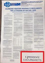 Calendario Lazio.Calendario Venatorio Regione Lazio