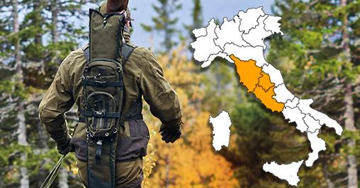 mobilità caccia Toscana Umbria Lazio